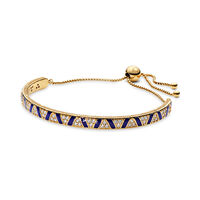 Exotic Stones & Stripes Shine Sliding Bangle