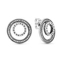 Forever PANDORA Signature Stud Earrings