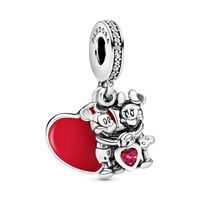 Disney, Mickey and Minnie with Love Pendant Charm